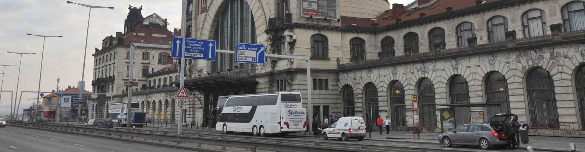 Prag – Hostels in der Nähe von Prag Hauptbahnhof. Prag auf der Karte. Fotos und Bewertungen für jedes Hostel in Prag.