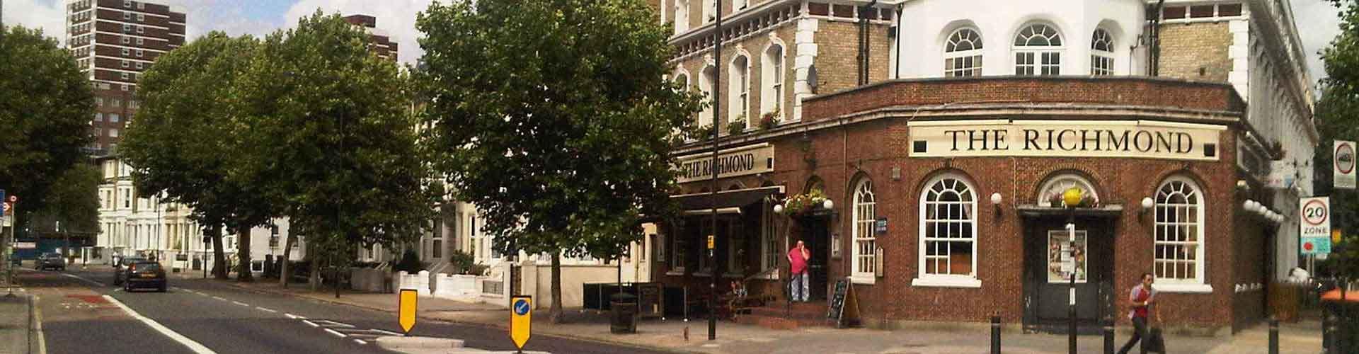 London – Hostels im Stadtteil Borough of Hammersmith and Fulham. London auf der Karte. Fotos und Bewertungen für jedes Hostel in London.