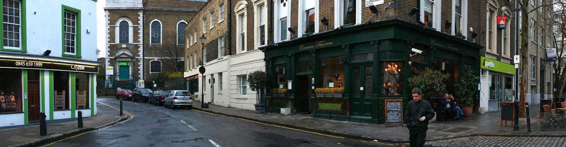 London – Hostels im Stadtteil Clerkenwell. London auf der Karte. Fotos und Bewertungen für jedes Hostel in London.