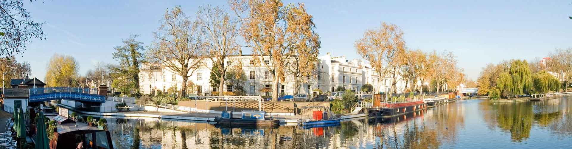 London – Hostels im Stadtteil Little Venice. London auf der Karte. Fotos und Bewertungen für jedes Hostel in London.
