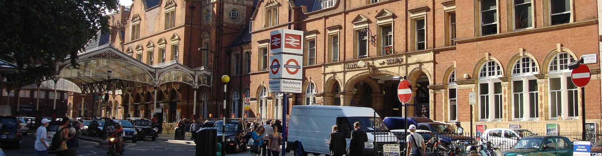 London – Hostels im Stadtteil Marylebone. London auf der Karte. Fotos und Bewertungen für jedes Hostel in London.