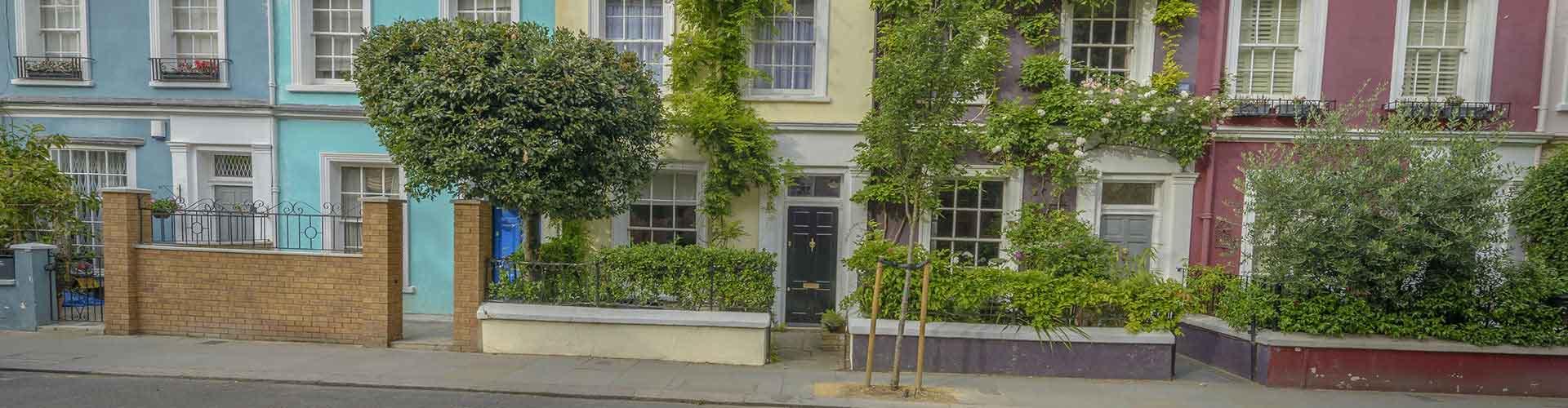 London – Hostels im Stadtteil Notting Hill. London auf der Karte. Fotos und Bewertungen für jedes Hostel in London.