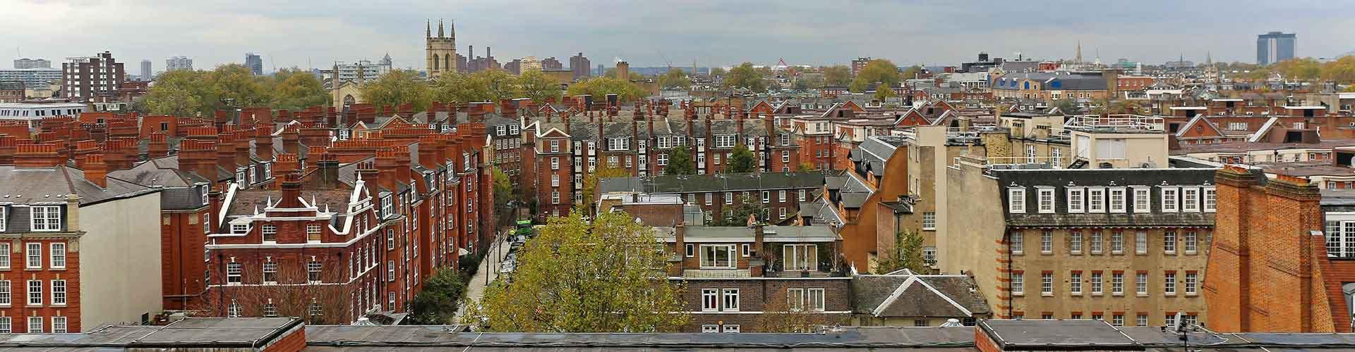 London – Hostels im Stadtteil Süd Kensington. London auf der Karte. Fotos und Bewertungen für jedes Hostel in London.