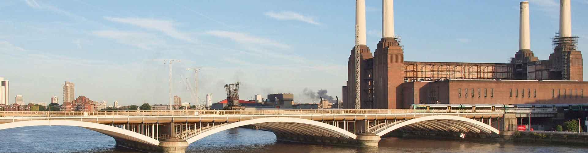 London – Hostels in der Nähe von Battersea Power Station. London auf der Karte. Fotos und Bewertungen für jedes Hostel in London.