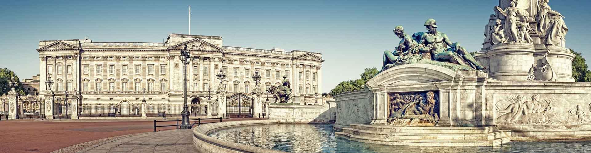 London – Hostels in der Nähe von Buckingham Palace. London auf der Karte. Fotos und Bewertungen für jedes Hostel in London.