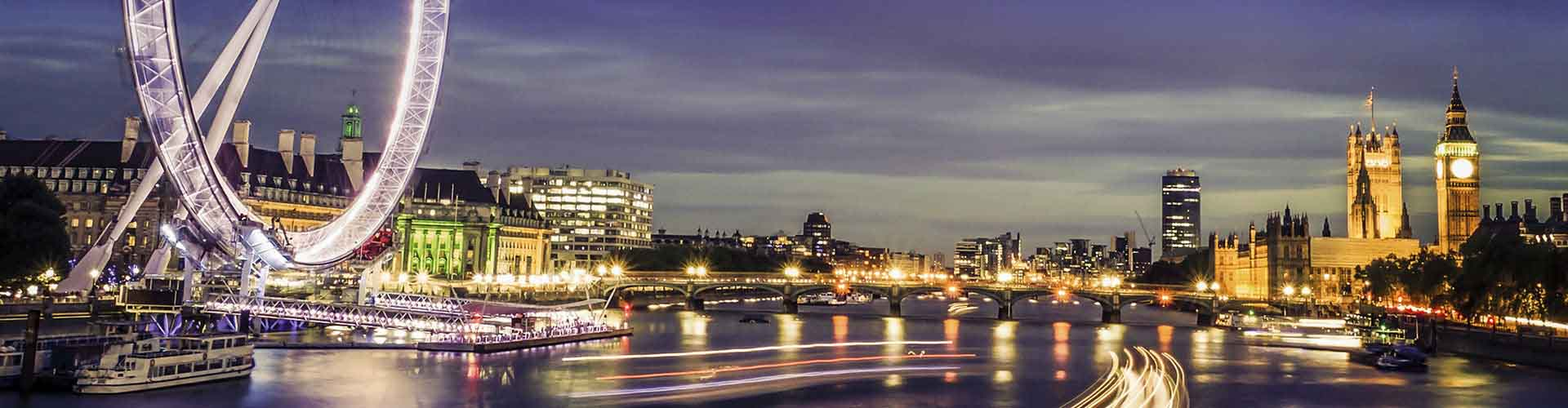 London – Hostels in der Nähe von London Eye. London auf der Karte. Fotos und Bewertungen für jedes Hostel in London.