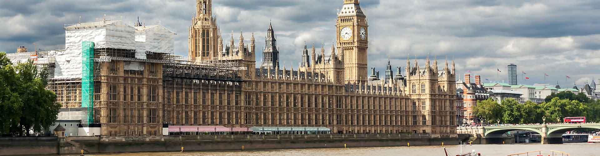 London – Hostels in der Nähe von Palast von Westminster. London auf der Karte. Fotos und Bewertungen für jedes Hostel in London.