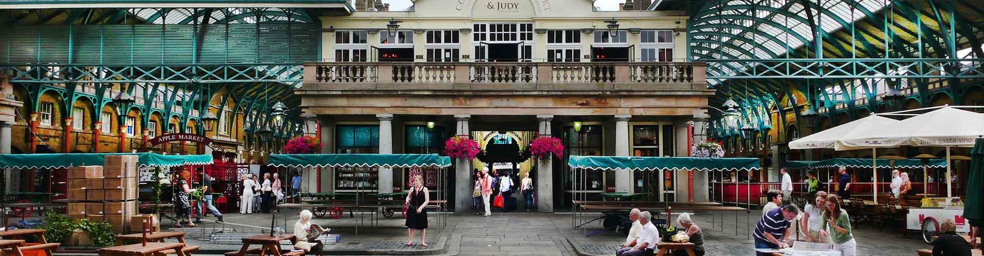 London – Hostels in der Nähe von Covent Garden Piazza. London auf der Karte. Fotos und Bewertungen für jedes Hostel in London.