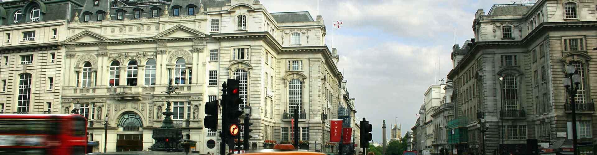 London – Hostels in der Nähe von Piccadilly Circus. London auf der Karte. Fotos und Bewertungen für jedes Hostel in London.