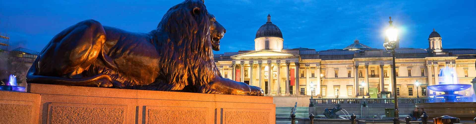 London – Hostels in der Nähe von Trafalgar Square. London auf der Karte. Fotos und Bewertungen für jedes Hostel in London.