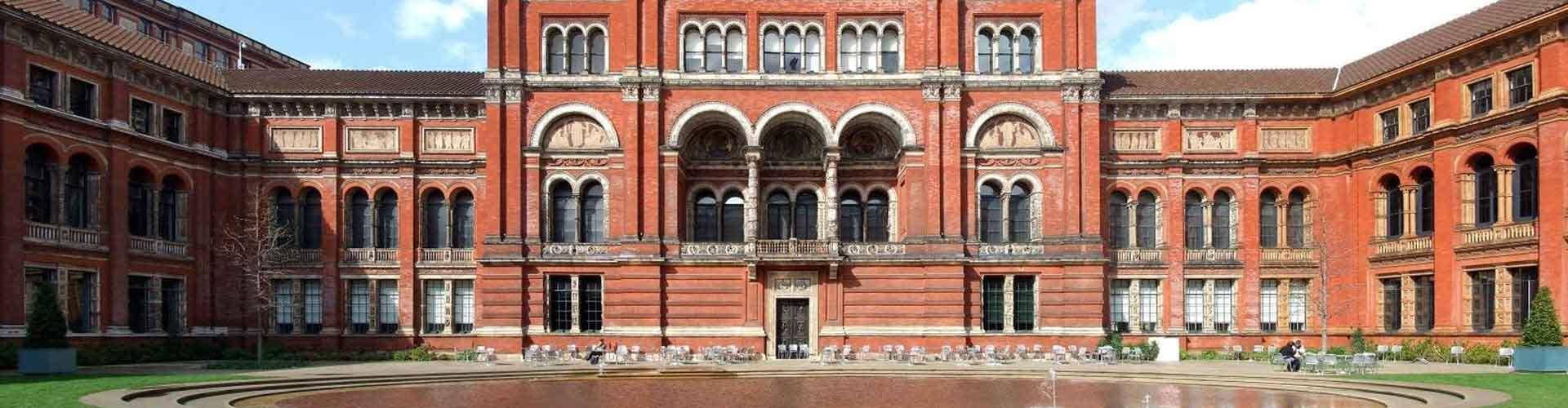 London – Hostels in der Nähe von Victoria and Albert Museum. London auf der Karte. Fotos und Bewertungen für jedes Hostel in London.