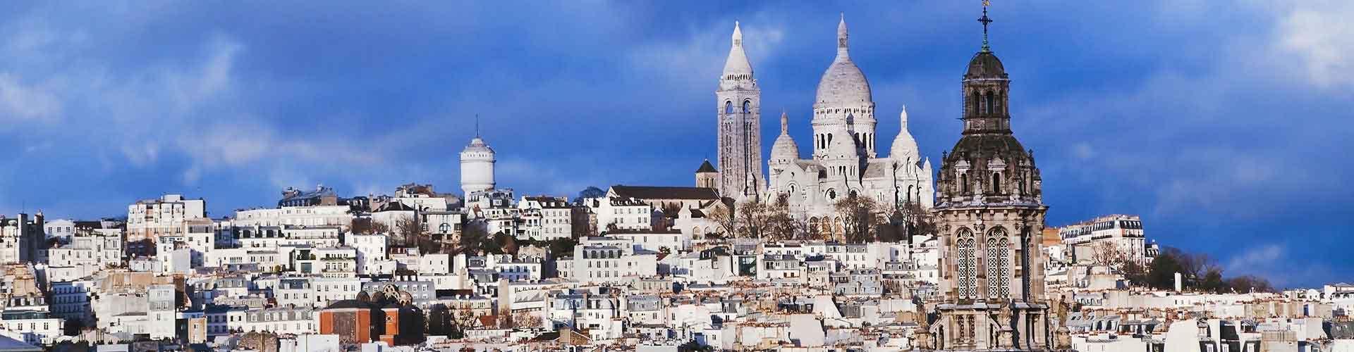 Paris – Hostels im Stadtteil Montmartre. Paris auf der Karte. Fotos und Bewertungen für jedes Hostel in Paris.