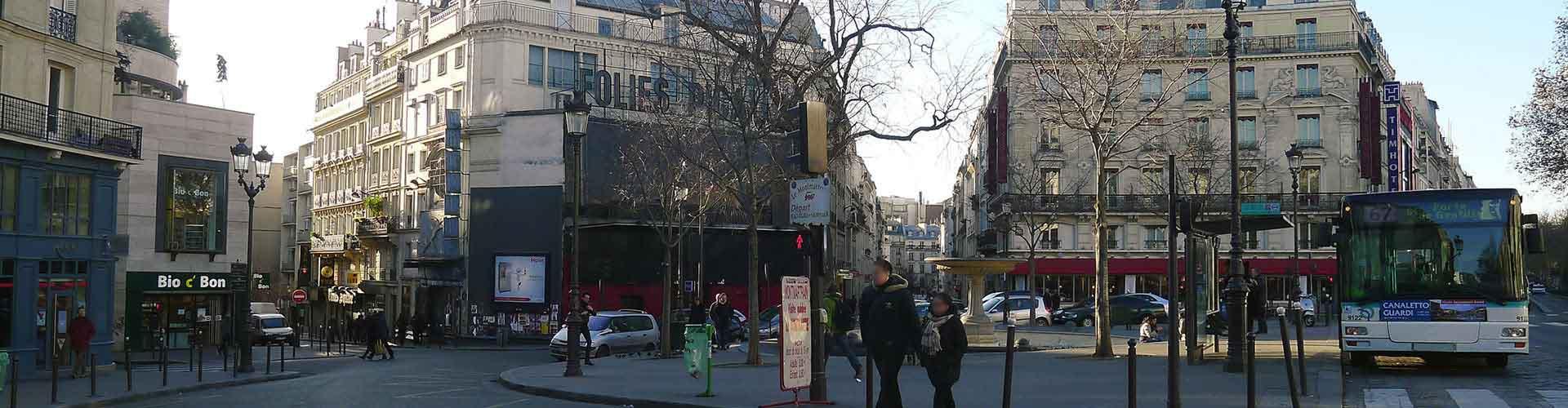 Paris – Hostels im Stadtteil Pigalle. Paris auf der Karte. Fotos und Bewertungen für jedes Hostel in Paris.