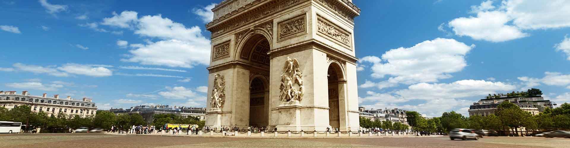 Paris – Hostels in der Nähe von Triumpfbogen. Paris auf der Karte. Fotos und Bewertungen für jedes Hostel in Paris.