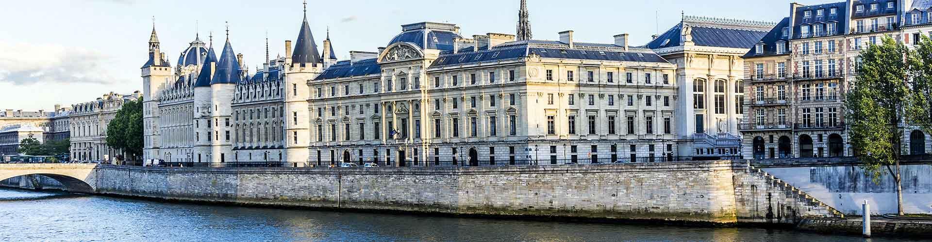 Paris – Hostels in der Nähe von Conciergerie. Paris auf der Karte. Fotos und Bewertungen für jedes Hostel in Paris.