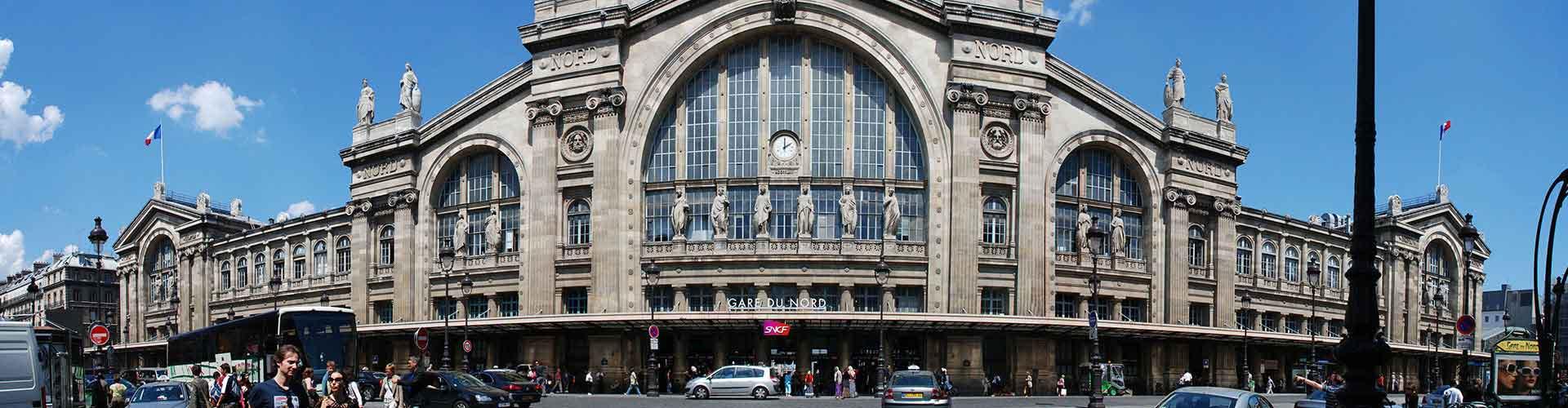 Paris – Hostels in der Nähe von Bahnhof Gare du Nord. Paris auf der Karte. Fotos und Bewertungen für jedes Hostel in Paris.