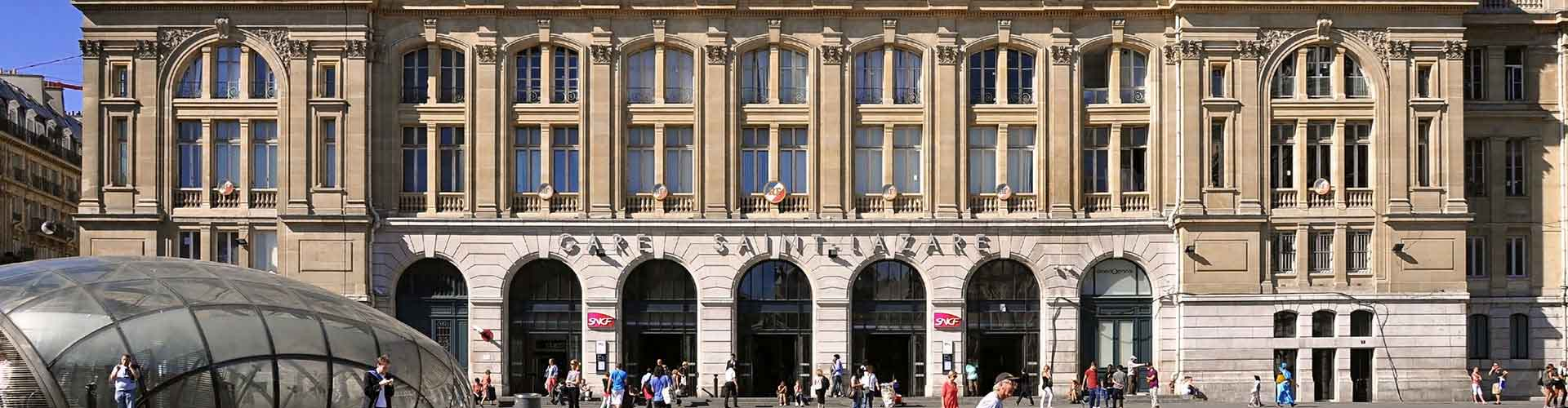 Paris – Hostels in der Nähe von Bahnhof Gare Saint-Lazare. Paris auf der Karte. Fotos und Bewertungen für jedes Hostel in Paris.