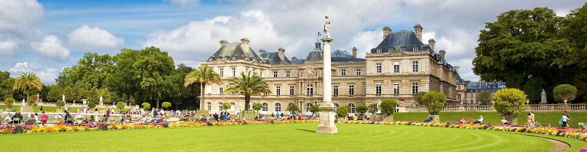 Paris – Hostels in der Nähe von Jardin du Luxemburg. Paris auf der Karte. Fotos und Bewertungen für jedes Hostel in Paris.