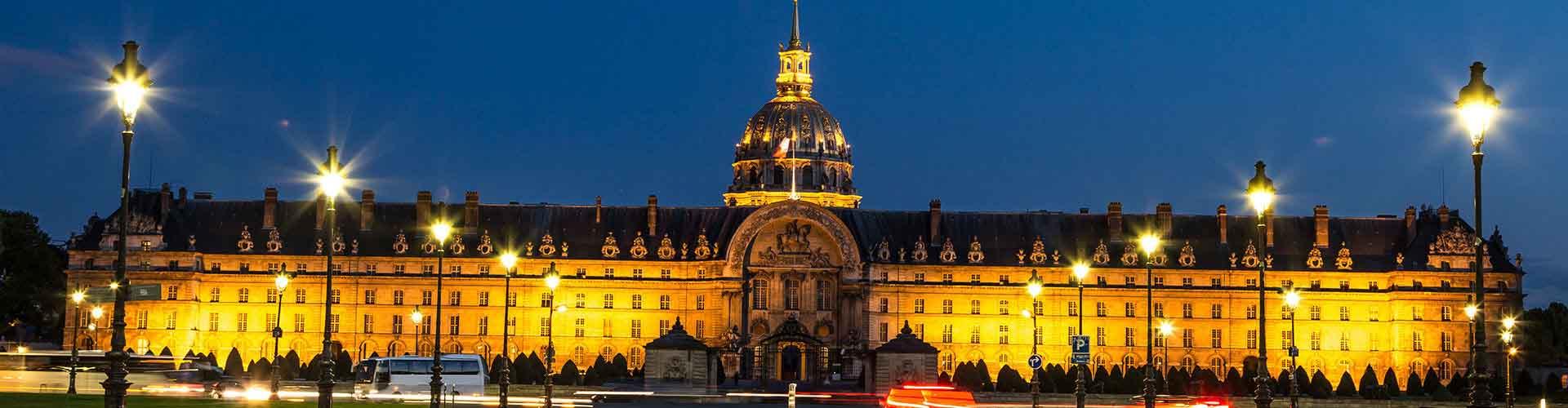 Paris – Hostels in der Nähe von Les Invalides. Paris auf der Karte. Fotos und Bewertungen für jedes Hostel in Paris.