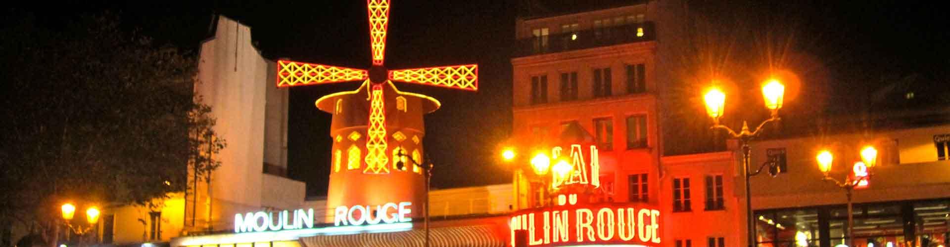 Paris – Hostels in der Nähe von Moulin Rouge. Paris auf der Karte. Fotos und Bewertungen für jedes Hostel in Paris.