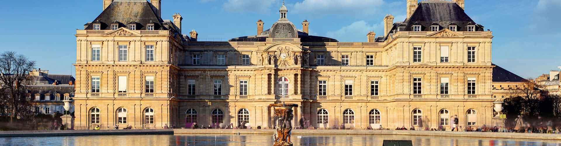 Paris – Hostels in der Nähe von Palais du Luxemburg. Paris auf der Karte. Fotos und Bewertungen für jedes Hostel in Paris.