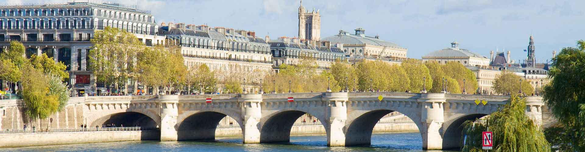 Paris – Hostels in der Nähe von Pont Neuf. Paris auf der Karte. Fotos und Bewertungen für jedes Hostel in Paris.