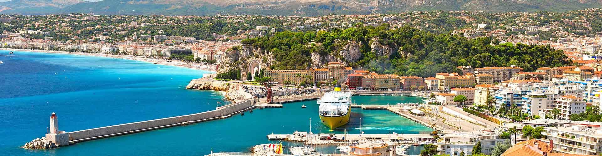 Nizza – Hostels im Stadtteil Masséna. Nizza auf der Karte. Fotos und Bewertungen für jedes Hostel in Nizza.