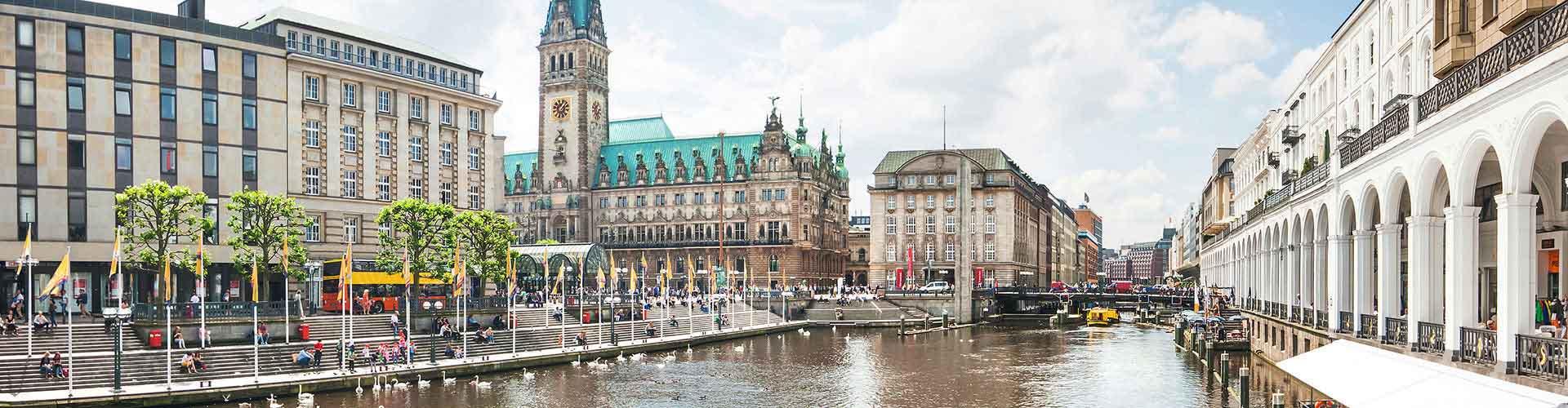 Hamburg - Hostels nahe Stadtzentrum. Hamburg auf der Karte. Fotos und Bewertungen für jedes Hostel in Hamburg.