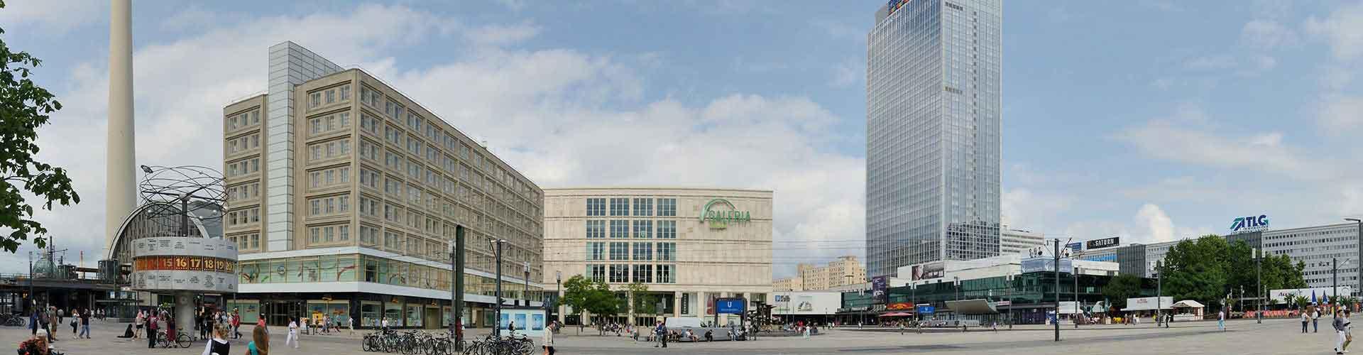 Berlin – Hostels in der Nähe von Alexanderplatz. Berlin auf der Karte. Fotos und Bewertungen für jedes Hostel in Berlin.
