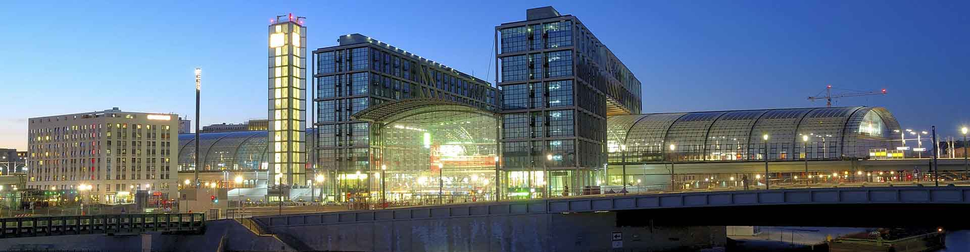 Berlin – Hostels in der Nähe von Berlin Hauptbahnhof. Berlin auf der Karte. Fotos und Bewertungen für jedes Hostel in Berlin.