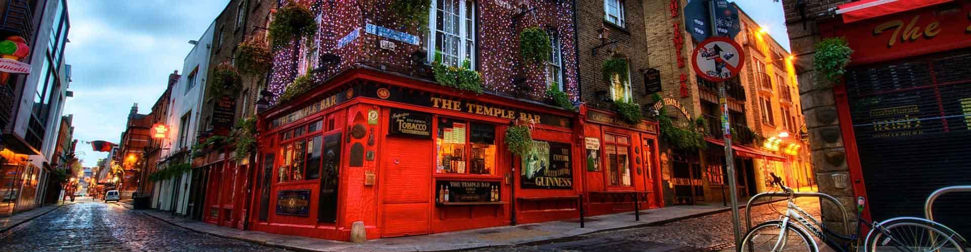 Dublin – Hostels im Stadtteil Temple Bar. Dublin auf der Karte. Fotos und Bewertungen für jedes Hostel in Dublin.