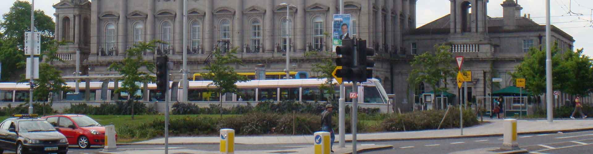 Dublin – Hostels in der Nähe von Dublin Heuston Bahnhof. Dublin auf der Karte. Fotos und Bewertungen für jedes Hostel in Dublin.