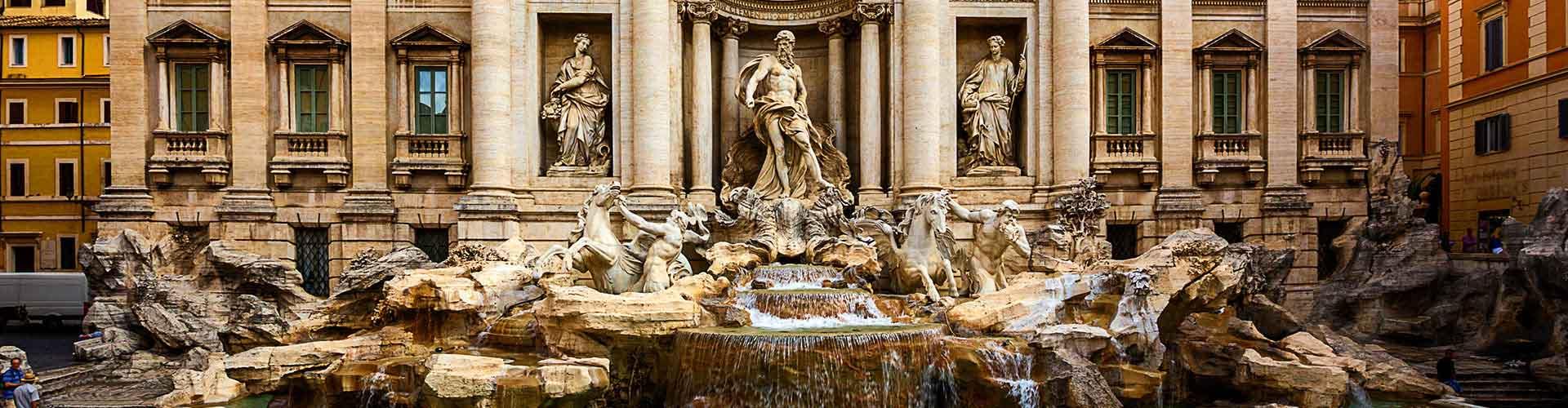 Rom – Hostels in der Nähe von Trevi Brunnen. Rom auf der Karte. Fotos und Bewertungen für jedes Hostel in Rom.