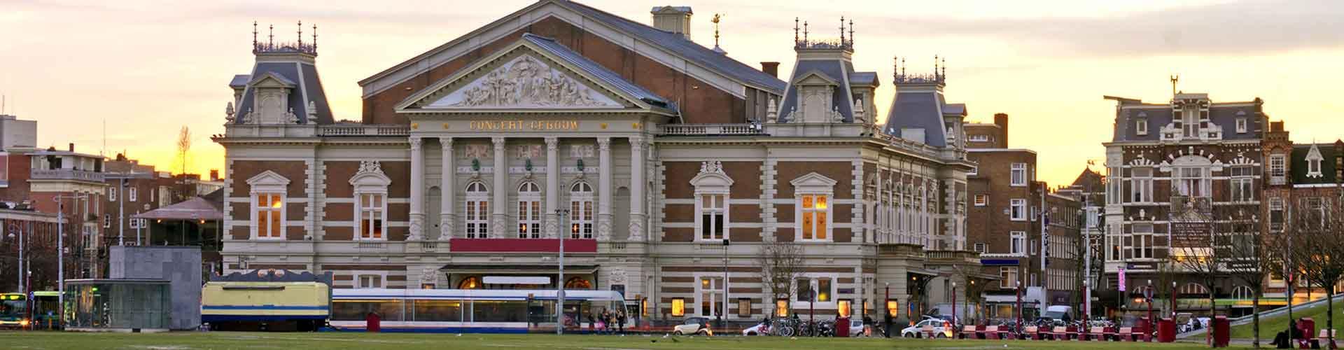 Amsterdam – Hostels in der Nähe von Concertgebouw. Amsterdam auf der Karte. Fotos und Bewertungen für jedes Hostel in Amsterdam.