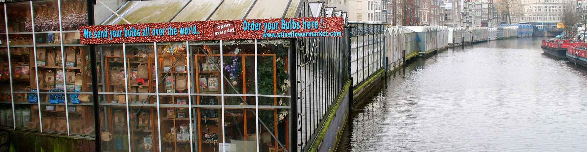 Amsterdam – Hostels in der Nähe von Blumenmarkt. Amsterdam auf der Karte. Fotos und Bewertungen für jedes Hostel in Amsterdam.