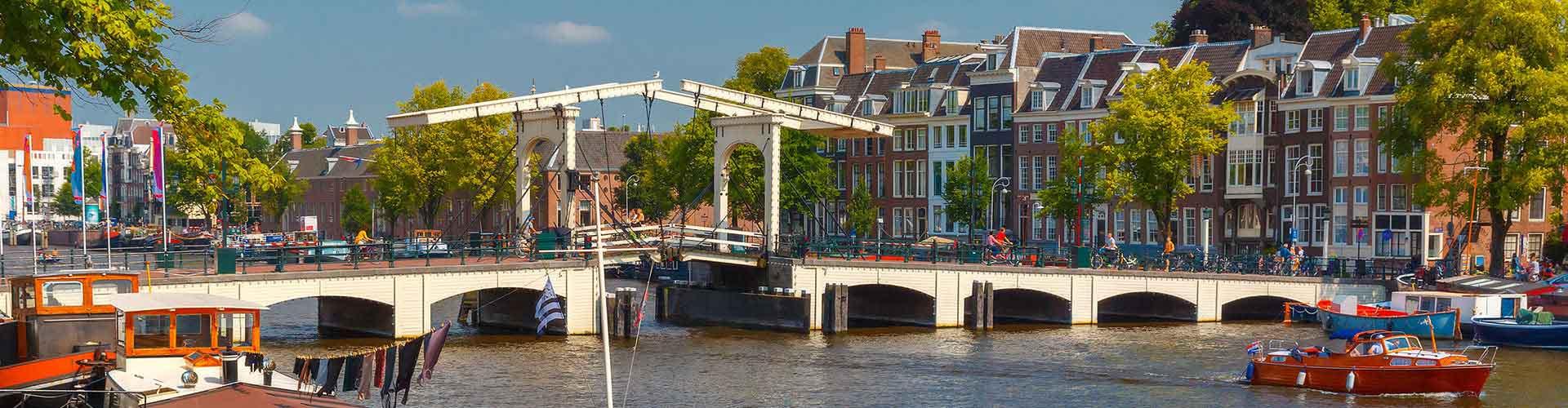 Amsterdam – Hostels in der Nähe von Magere Brug. Amsterdam auf der Karte. Fotos und Bewertungen für jedes Hostel in Amsterdam.