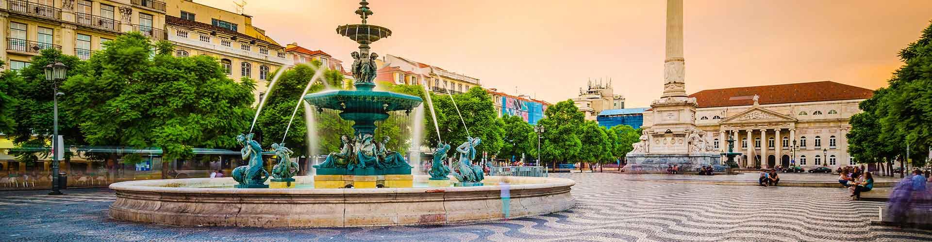 Lissabon – Hostels im Stadtteil Baixa. Lissabon auf der Karte. Fotos und Bewertungen für jedes Hostel in Lissabon.