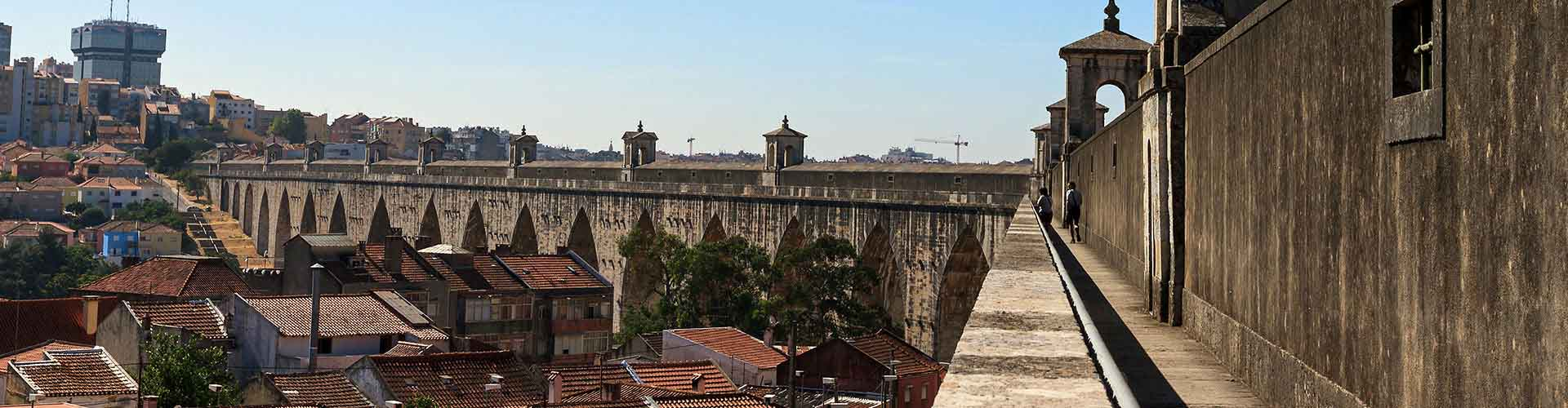 Lissabon – Hostels in der Nähe von Águas Livres Aquädukt. Lissabon auf der Karte. Fotos und Bewertungen für jedes Hostel in Lissabon.