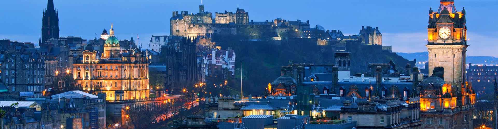 Edinburgh - Hostels nahe Stadtzentrum. Edinburgh auf der Karte. Fotos und Bewertungen für jedes Hostel in Edinburgh.