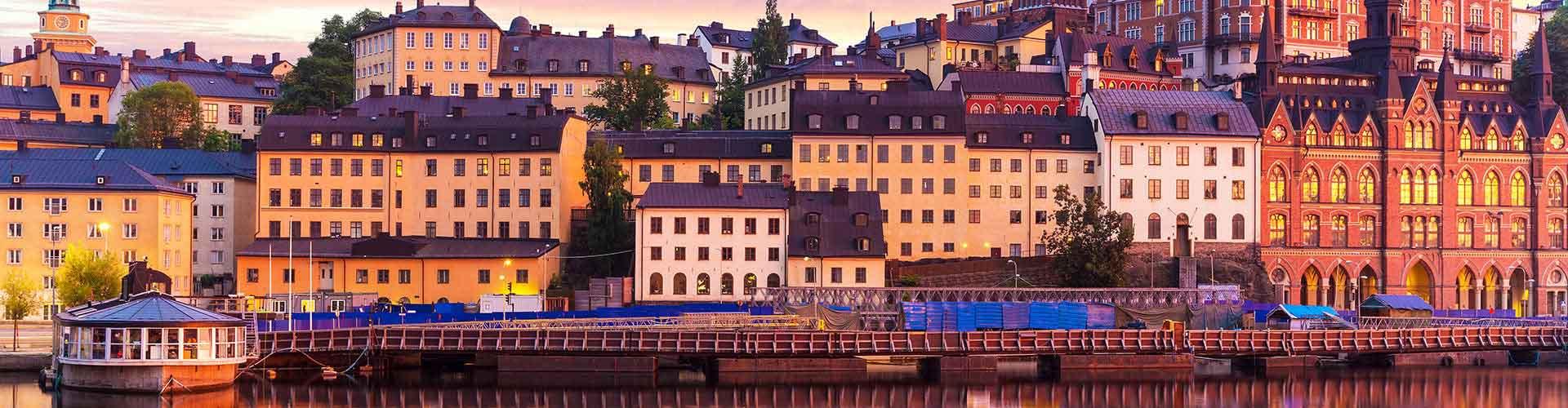 Stockholm – Hostels im Stadtteil Södermalm. Stockholm auf der Karte. Fotos und Bewertungen für jedes Hostel in Stockholm.