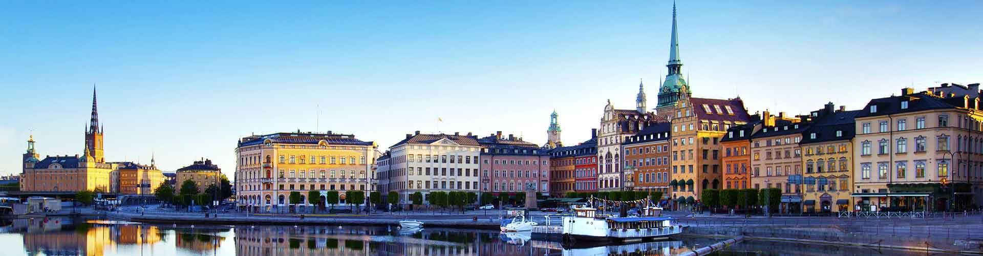 Stockholm – Hostels im Stadtteil Midsommarkransen. Stockholm auf der Karte. Fotos und Bewertungen für jedes Hostel in Stockholm.