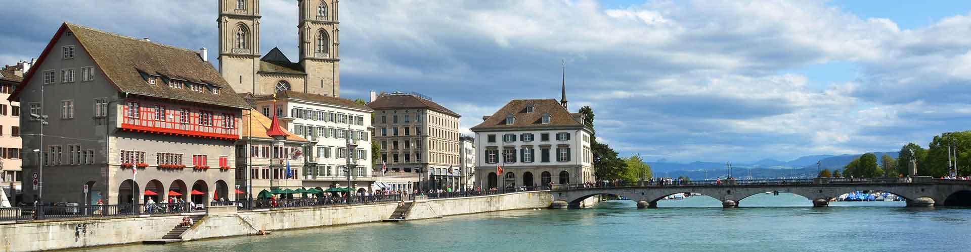 Zürich - Jugendherbergen in Zürich. Zürich auf der Karte. Fotos und Bewertungen für jede Jugendherberge in Zürich.