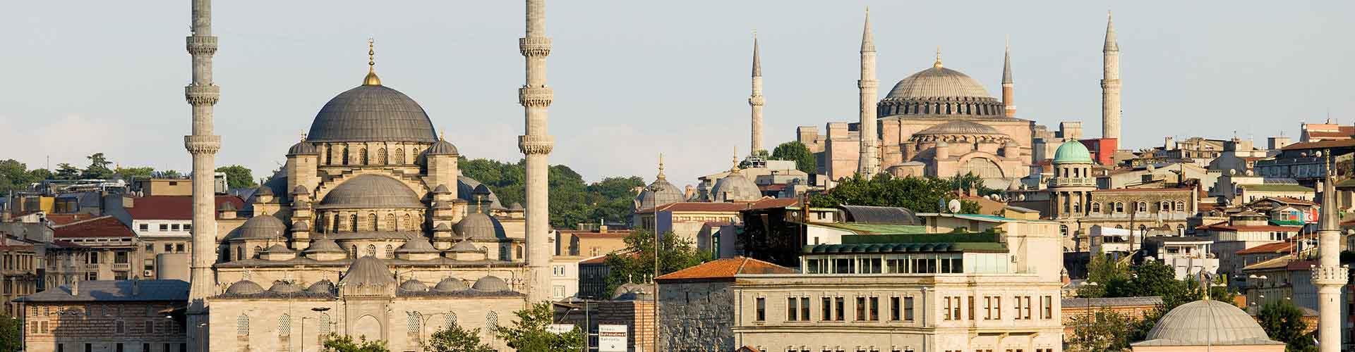 Istanbul – Hostels in der Nähe von Internationaler Flughafen Atatürk. Istanbul auf der Karte. Fotos und Bewertungen für jedes Hostel in Istanbul.