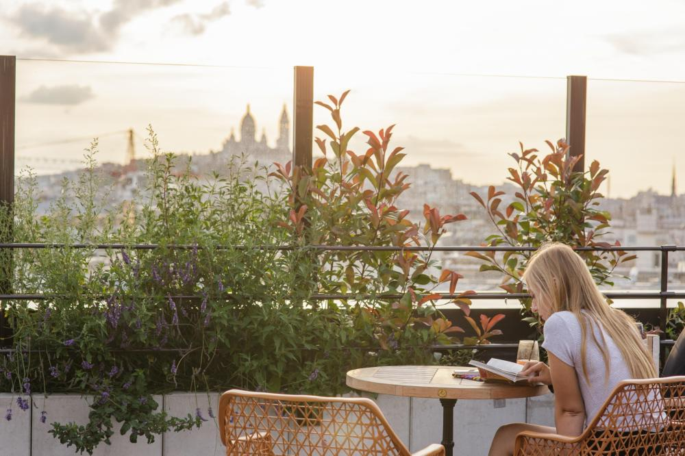 Beeindruckende Aussicht über Paris