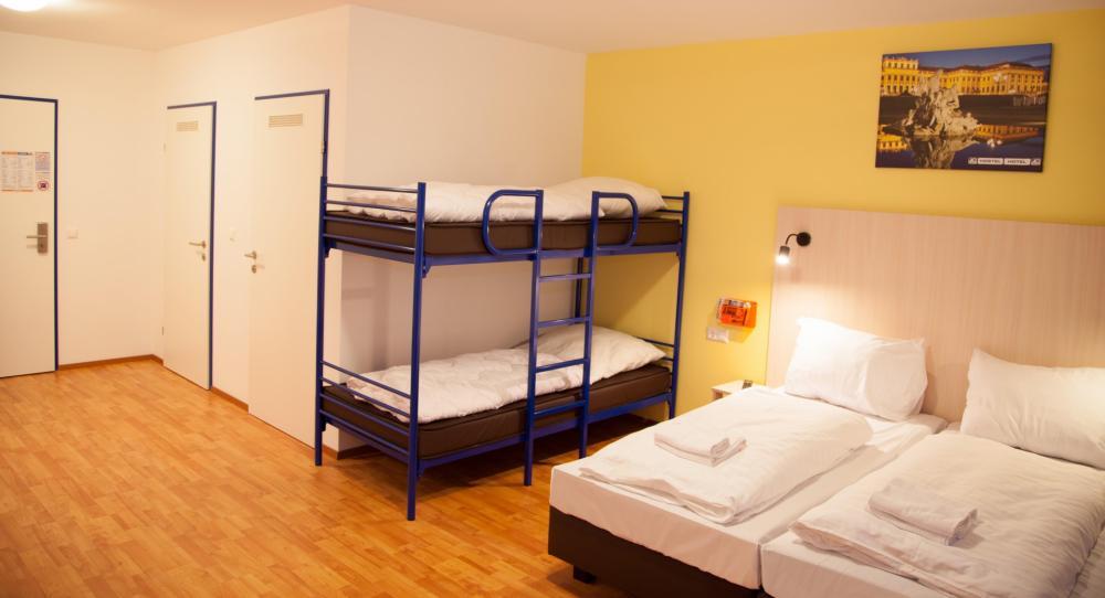A o wien hauptbahnhof hostel for Hotel familienzimmer hamburg