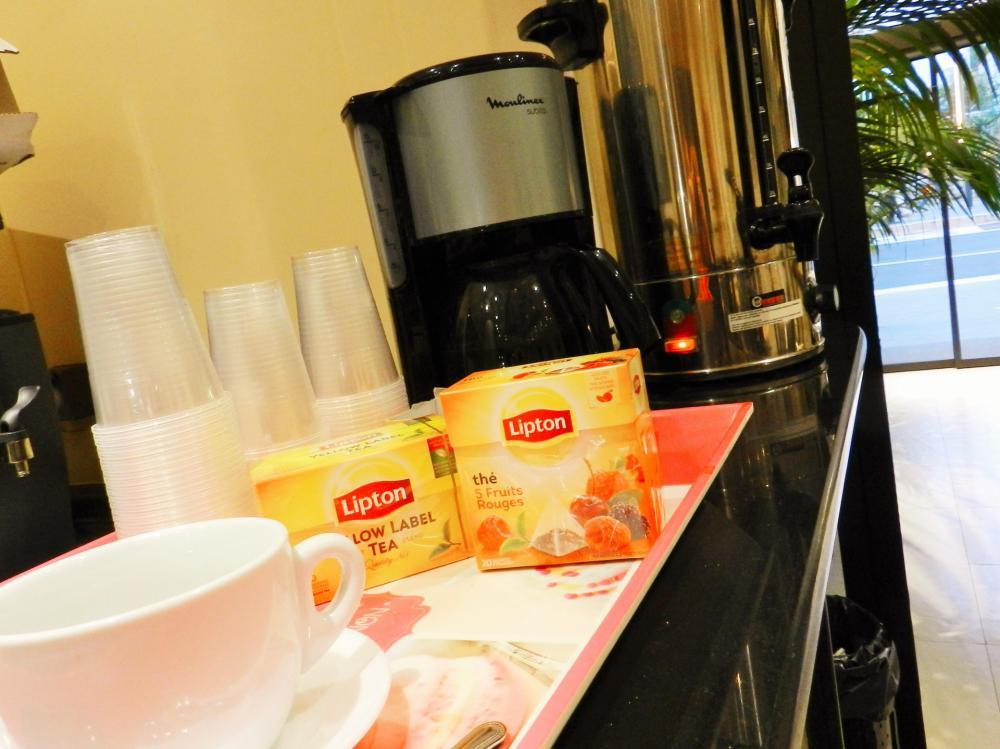 Jeden Morgen kostenlos Kaffee und Tee
