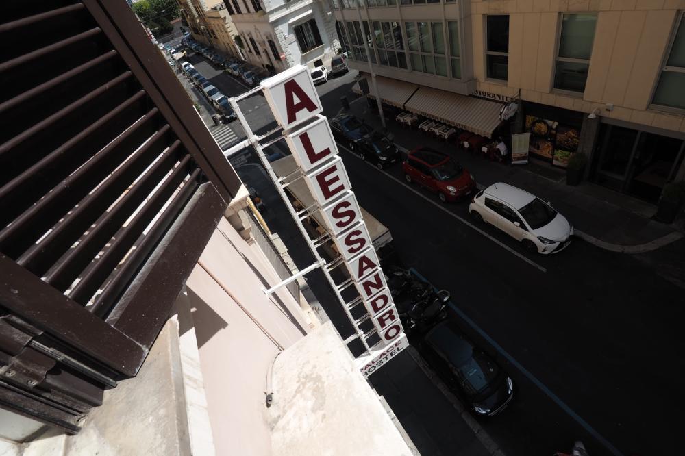 Alessandro Palace & Bar vom Fenster