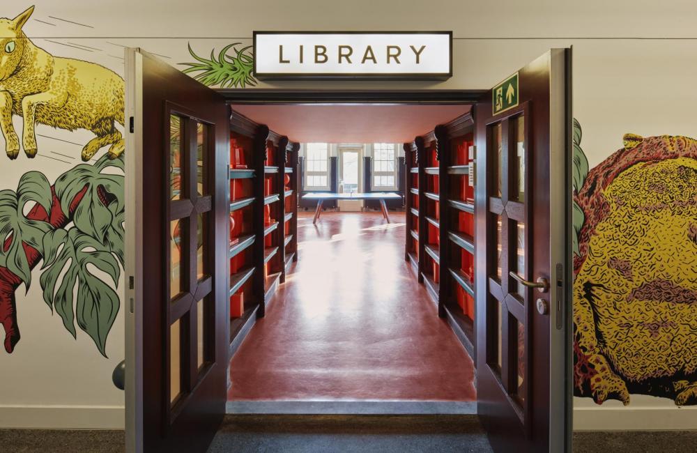 Die Bibliothek ist der ideale Rückzugsort